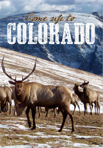 A Colorado tourism poster showing Ashwood Condensed, a font from the Wild West Press font set