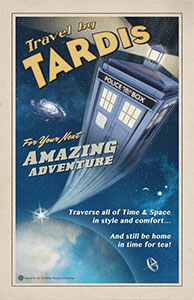 A Doctor who promotional poster that uses fonts from the American Poster Fonts of World War II set