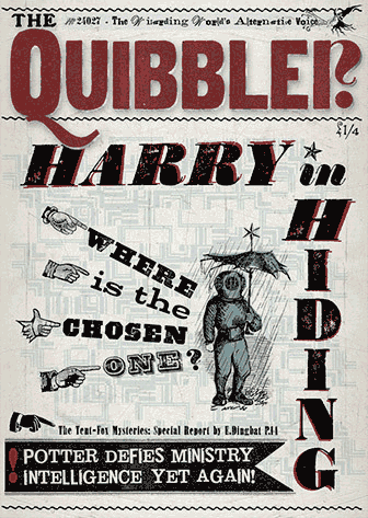 An image of The Quibbler prop cover from the film Harry Potter and the Deathly Hallows