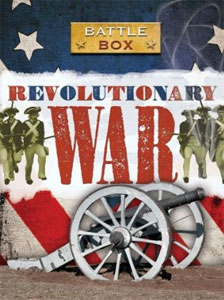 A Revolutionary War game featuring fonts from the Wild West Press font set