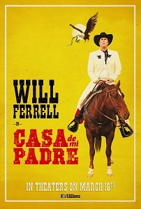 Will Farrell movie poster with Cut and Shoot font from Wild West Press