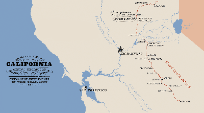 Section of a map created with fonts from the New Victorian Printshop