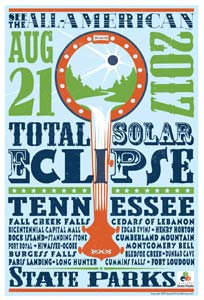 A poster on the American Eclipse