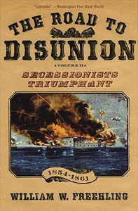 book cover design for the Road to Disunion, made with fonts from the Civil War Press font set