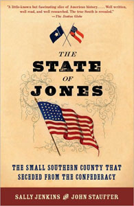 cover design for the state of jones, a book featuring Ashwood Extra Bold from the Wild West Press font set