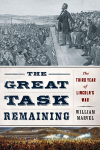 Book cover design with fonts from the Civil War Press font set