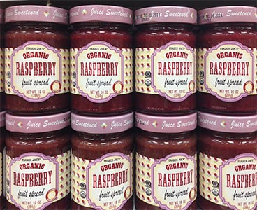An image of a jam label with Ashwood Condensed font