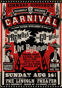 a sideshow poster that makes good use of the Wild West Press fonts