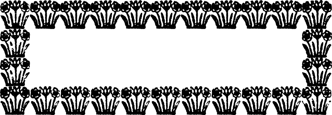 "A Colonial 18th century style font called ""Daisy Border"" from the Walden Font Co. It is part of the Minuteman Printshop set of fonts."