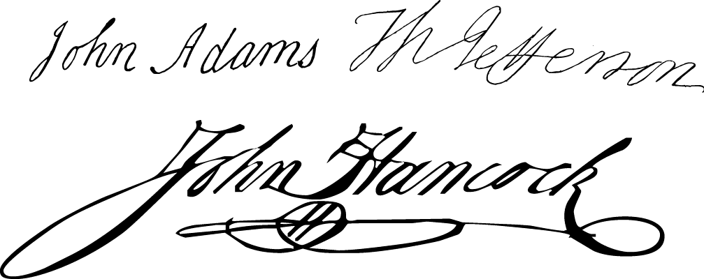 "A Colonial 18th century style font called ""Signers of the DoI"" from the Walden Font Co. It is part of the Minuteman Printshop set of fonts."