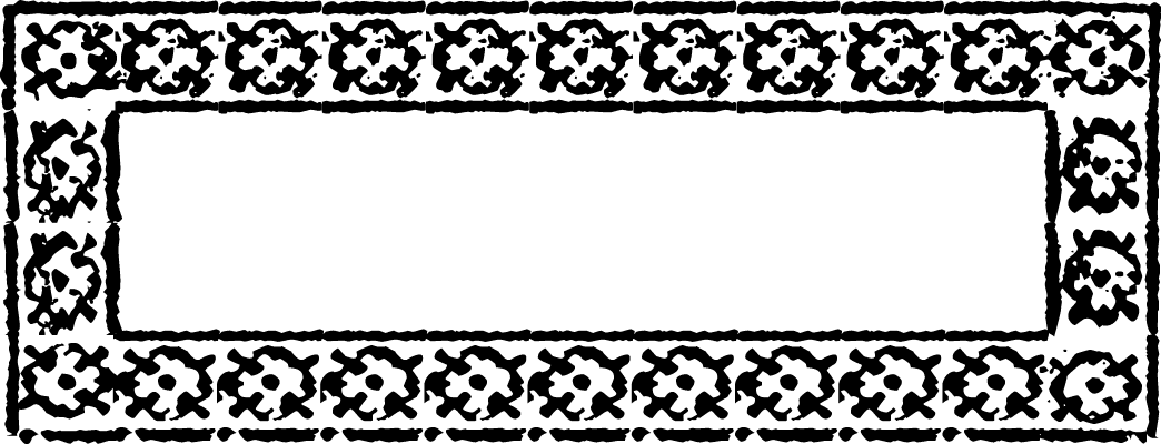 "A Colonial 18th century style font called ""Quilt Border"" from the Walden Font Co. It is part of the Minuteman Printshop set of fonts."