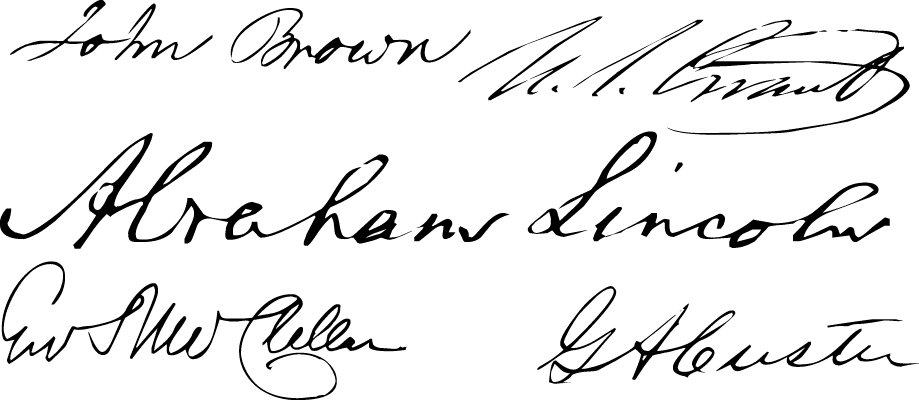"A Civil War style font called ""Union Signatures"" from the Walden Font Co. It is part of the Civil War Press set of fonts."
