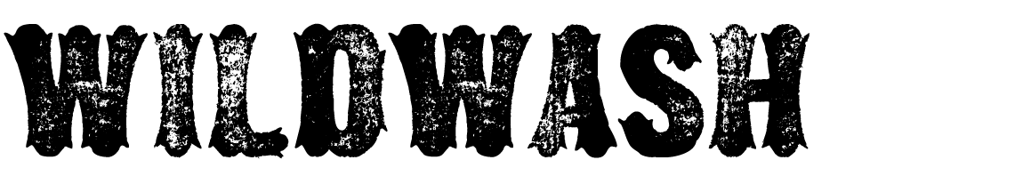 A Wild West style font called Wildwash from the Walden Font Co. It is part of the Wild West Press set of fonts.