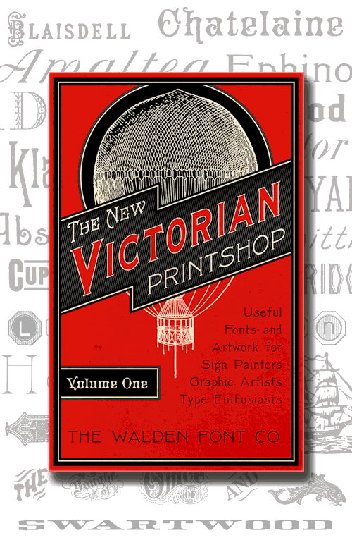 Header Image for the New Victorian Printshop font set, volume one