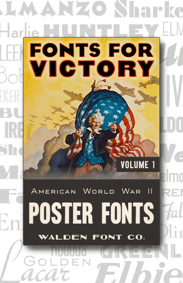 Header for American Poster Fonts of World War Two, Volume One