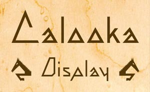 Cover art for the angular Art Deco font WF Calooka