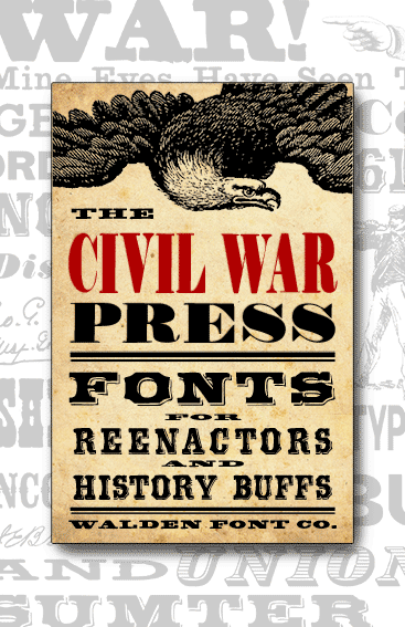 Header image for the Civil War Press font set