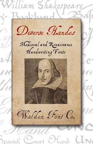 Cover art for the Divers Handes set of authentic medieval and renaissance fonts