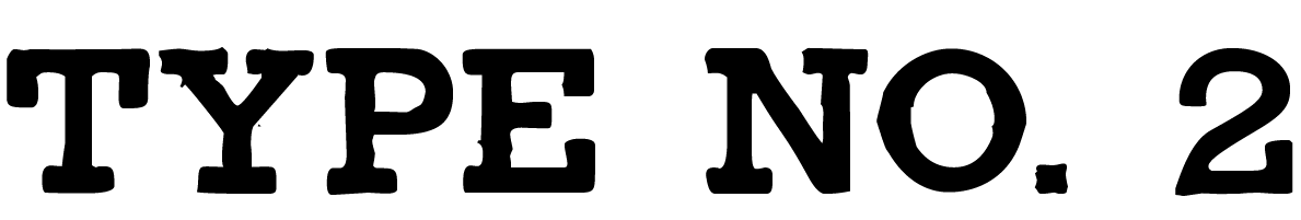 "A Civil War style font called ""Type No. 2"" from the Walden Font Co. It is part of the Civil War Press set of fonts."