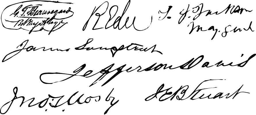 "A Civil War style font called ""Confederate Signatures"" from the Walden Font Co. It is part of the Civil War Press set of fonts."