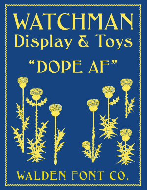 Cover art for the Art Nouveau font WF Watchman