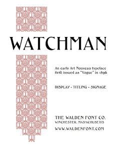 Page 1 of the complete Watchman specimen