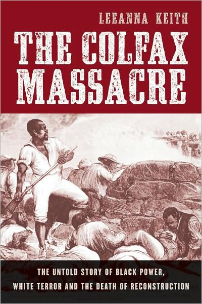 cover design for the book The Colfax Massacre, featuring Ashwood Condensed from the Wild West Press font set