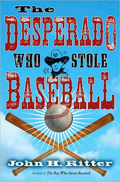 book cover for The Desperado Who Stole Baseball featuring fonts from the Wild West Press font set