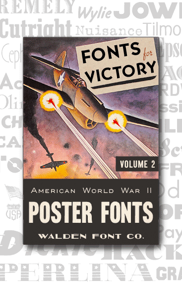 Header Image for the American Poster Fonts of World War Two font set, volume two