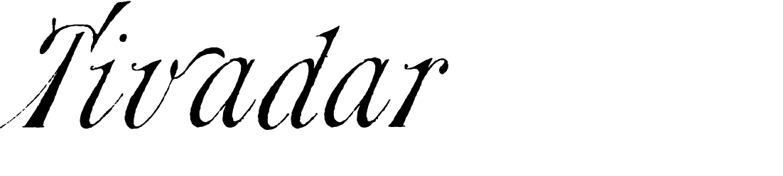 A 19th century font called Tivadar WF from the Walden Font Co. It is part of the New Victorian Printshop set of fonts.